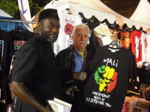 Con Oumar Marikó , diputado de Mali y candidato de izquierda a elecciones 2012