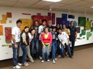 Equipo promotor de La Librería Mediática, TVLecturas y Club Los Comelibros en la reunión de planificación del 11/5/13 en la Sala Aquiles Nazoa de UNEARTE