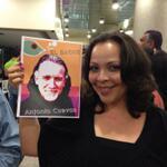 """Hermoso afiche promocional de Antonio Cuevas, como """"El Bagre"""" en """"El Pez que fuma"""" y la actriz Dayfra Blanco."""